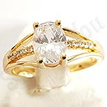 INELE - Inel in culoarea aurului 14K zirconii albe - ZS554