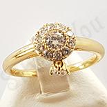 Inel in culoarea aurului 14K zirconii albe - ZS502