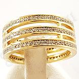 Inel in culoarea aurului 14K zirconii albe - ZS505