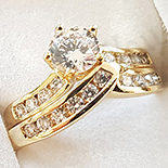 INELE - Inel in culoarea aurului 14K zirconii albe - ZS509