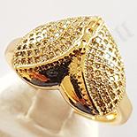Inel in culoarea aurului 14K zirconii albe - ZS510