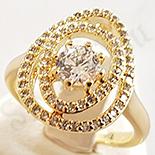 Inel in culoarea aurului 14K zirconii albe - ZS908