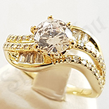Inel in culoarea aurului 14K zirconii albe - ZS909