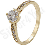 Inel in culoarea aurului 14K zirconii albe - ZS1001