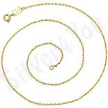 Cadouri Femei 1-8 Martie - Lant in culoarea aurului 14K - 40 cm/1 mm - ZS1007