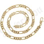 Bijuterii Inox - Lant in culoarea aurului 14K - 54 cm/8 mm - ZS1011
