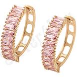 Cadouri Femei 1-8 Martie - Cercei auriti cu aur roz si zirconii roz - ZS1029
