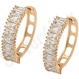 Cadouri Femei 1-8 Martie - Cercei auriti cu aur roz si zirconii albe - ZS1031