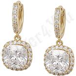 Cadouri Femei 1-8 Martie - Cercei in culoarea aurului 14K zirconii albe - ZS1036