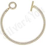Cadouri Femei 1-8 Martie - Bratara in culoarea aurului 14K zirconii albe - ZS1042