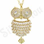Cadouri Femei 1-8 Martie - Colier aurit cu aur 14K Bufnita - superb - ZS1043