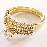 Cadouri de Craciun - Set 2 inele aurite cu aur de 14K - ZS1046