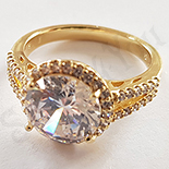 Cadouri Femei 1-8 Martie - Inel aurit cu aur 14K zirconii albe - ZS1047