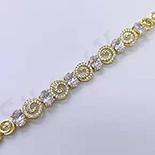 Bratara in culoarea aurului 14K zirconii albe - ZS1052