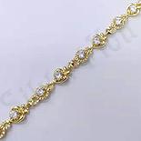 Bratara in culoarea aurului 14K zirconii albe - ZS1053