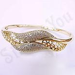 Cadouri Femei 1-8 Martie - Bratara in culoarea aurului 14K zirconii albe - ZS1058
