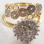 Set 2 inele aurite cu aur de 14K - ZS1081