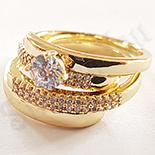 Set 2 inele aurite cu aur de 14K - ZS1082