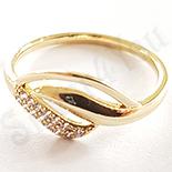 Inel in culoarea aurului 14K zirconii albe - ZS1083
