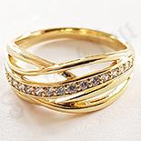 Inel in culoarea aurului 14K zirconii albe - ZS1084