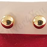 Cercei biluta auriti cu aur de 14K - 5 mm - ZS1073
