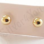 Cadouri Femei 1-8 Martie - Cercei biluta auriti cu aur 14K - 3.5 mm - ZS1075