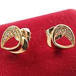 Cercei auriti cu aur de 14K - ZS1077