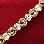 Bijuterii in Culoarea Aur 14K - Bratara in culoarea aurului 14K zirconii albe - ZS1052