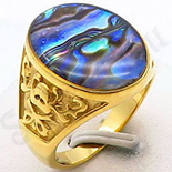 Ghiul inox aurit pietre multicolore - BN671