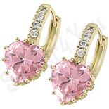 Cadouri Femei 1-8 Martie - Cercei in culoarea aurului 14K zirconii roz - ZS1204