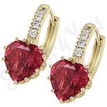 Cadouri Femei 1-8 Martie - Cercei in culoarea aurului 14K zirconii rosii - ZS1210