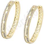 Cercei in culoarea aurului 14K zirconii albe - ZS1216