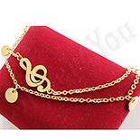 Bijuterii Inox Dama - Bratara inox in culoarea aurului - BN900