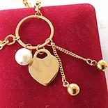 BRATARI - Bratara in culoarea aurului 14K perle - BN901