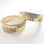 Cercei in culoarea aurului 14K zirconii albe - ZS1191