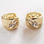 Cercei in culoarea aurului 14K zirconii albe - ZS1193