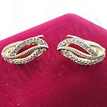 Cadouri Femei 1-8 Martie - Cercei in culoarea aurului 14K zirconii albe - ZS1195