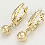 Cadouri Femei 1-8 Martie - Cercei in culoarea aurului 14K/6 mm - ZS1221