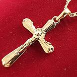 Bijuterii Inox - Pandantiv cu lant in culoarea aurului 14K - ZS1225