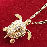 Pandantiv cu lant in culoarea aurului 14K zirconii albe - ZS1227