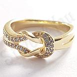 Inel in culoarea aurului 14K zirconii albe - ZS1240