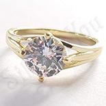 Inel in culoarea aurului 14K zirconii albe - ZS1241