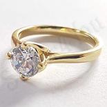Inel in culoarea aurului 14K zirconii albe - ZS1242
