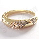 Inel in culoarea aurului 14K zirconii albe - ZS1243