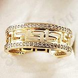 Inel in culoarea aurului 14K zirconii albe - ZS1262