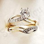Inel in culoarea aurului 14K zirconii albe - ZS1265