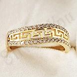 Inel in culoarea aurului 14K zirconii albe - ZS1268