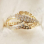 Inel in culoarea aurului 14K zirconii albe - ZS1271