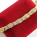 Bratara in culoarea aurului 14K zirconii albe - ZS1274