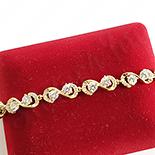 BRATARI - Bratara in culoarea aurului 14K zirconii albe - ZS1275